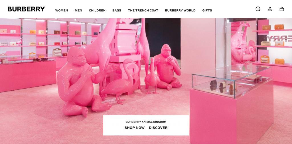 Luxury web design.