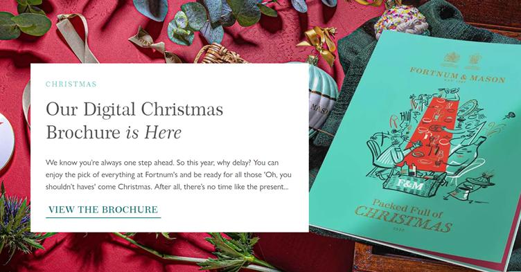 Fortnum & Mason's digital Christmas brochure